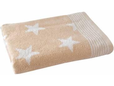 Dyckhoff Badetuch »Stars«, mit Sternen & Streifen, natur, Walkfrottee, sand