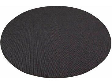Living Line Sisalteppich »Trumpf«, rund, Höhe 6 mm, Flachgewebe, Obermaterial: 100% Sisal, schwarz, schwarz
