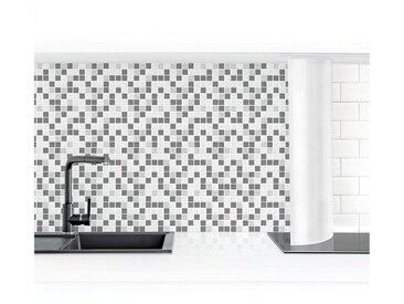 Bilderwelten Küchenrückwand »Mosaikfliesen Grau«, grau, 60x350cm, Premium, Grau