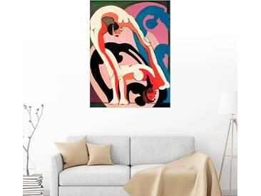 Posterlounge Wandbild - Ernst Ludwig Kirchner »Akrobatenpaar - Plastik«, bunt, Alu-Dibond, 120 x 160 cm, bunt