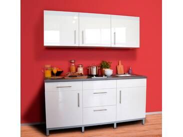 MENKE MÖBELWERKE Küchenzeile mit E-Geräten »Rack-Time I 180«, weiß, ohne Aufbauservice, weiss glanz
