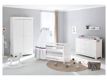Pinolino® Komplett Kinderzimmer NINA extrabreit, (Kinderbett, Wickelko, weiß, 70 x 140, weiß