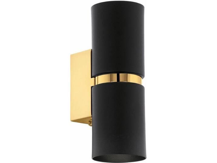 EGLO LED Wandleuchte »PASSA«, 2-flammig, schwarz, 2 -flg. /, schwarz-goldfarben Schwarz