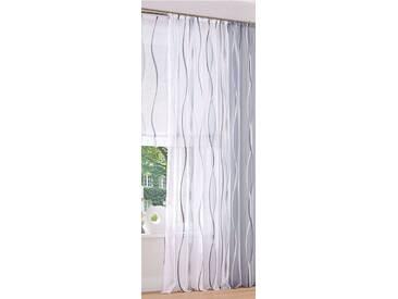 my home Gardine »Dimona«, Kräuselband (2 Stück), weiß, Kräuselband, transparent, weiß-silberfarben-grau
