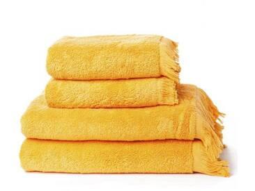 Casa di Bassi Handtuch Set »mit Fransenabschluss«, Fransenabschluss, gelb, gelb