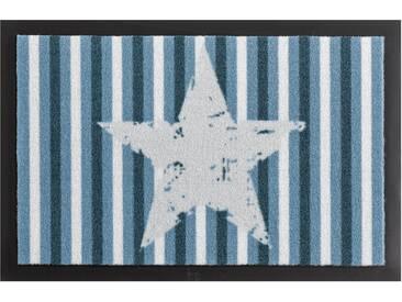 HANSE Home Fußmatte »Stars and Stripes«, rechteckig, Höhe 7 mm, rutschhemmend beschichtet, blau, 7 mm, blau