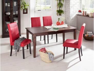 Home affaire Tisch, braun, Breite 160 cm, ohne Schublade, kolonialfarben