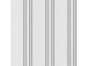 SCHÖNER WOHNEN-KOLLEKTION Vliestapete, P+S, »Streifen Tapete«, bunt, grau-weiß-metallics