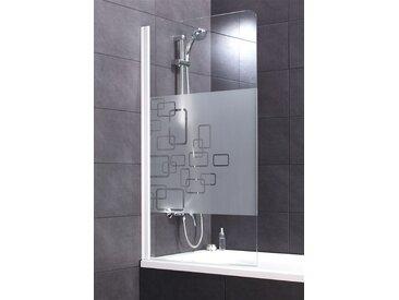 Schulte Badewannenaufsatz »Softcube«, weiß, ohne Antikalk-Versiegelung, weiß