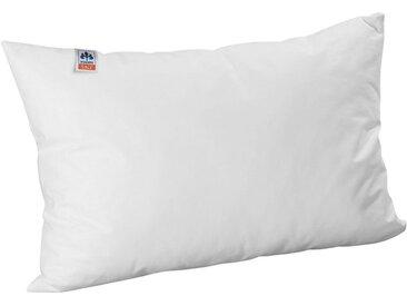 Irisette Kunstfaserkopfkissen, »Kinderkissen«, Bezug: 100% Baumwolle, (1-tlg), weiß