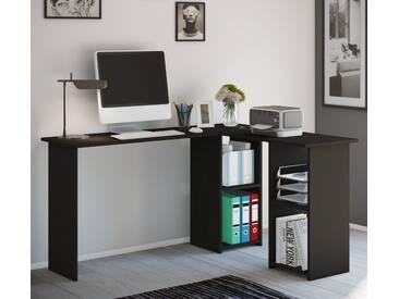 VCM Eck - Schreibtisch Lusias, schwarz, Schwarz