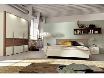 now! by hülsta Bett »now! no. 14« mit Polsterkopfteil in Kunstleder weiß oder taupe, braun, taupe