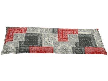 GO-DE Bankauflage , (L/B): ca. 115x45 cm, grau, 1 Auflage, rot/grau