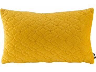 H.O.C.K. H.o.c.k. Kissen »Soft Nobile« 50/30 cm, gelb, gelb