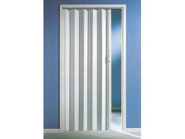 Kunststoff-Falttür , Höhe nach Maß, weiß ohne Fenster, weiß, 119 cm, weiß