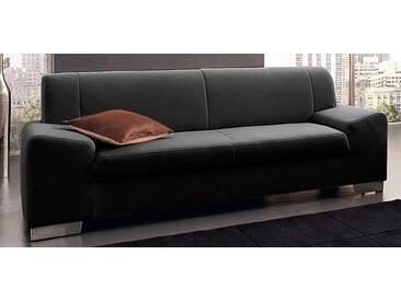 DOMO collection 3-Sitzer, schwarz, 199 cm, schwarz