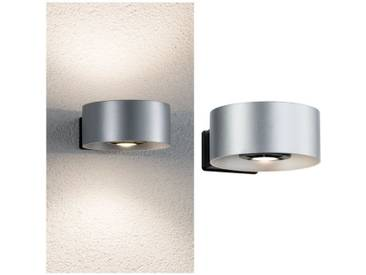 Paulmann LED Außen-Wandleuchte »Cone Silber/Anthrazit 2x6W«, 2-flammig, silberfarben, 2 -flg. /, anthrazit-silberfarben