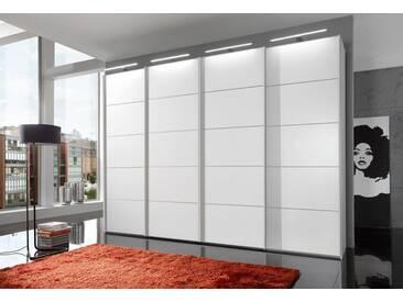 WIEMANN Schwebetürenschrank »Westside«, weiß, Breite 330 cm, Höhe 236 cm, Dekorfront, weiß