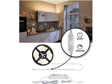 Paulmann LED-Streifen »SimpLED Power Strip Set 3m 33W beschichtet mit Schnurdimmer 1100lm/m«, weiß, weiß