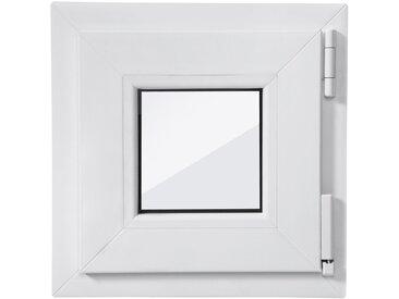 RORO Türen & Fenster RORO Kunststoff-Fenster , 2 Stk., BxH: 40x40 cm, weiß, Anschlag links oder rechts, weiß, rechts, weiß