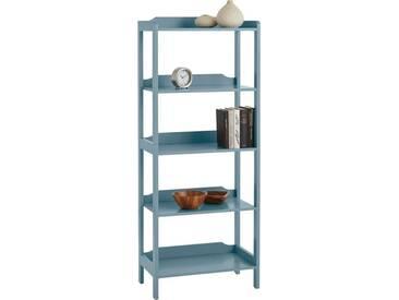 Home affaire Regal in 2 Höhen, blau, Mit 4 Fächern, blau antik