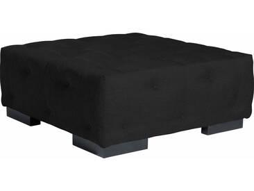 Max Winzer® Sessel »York« mit Knopfheftung, Breite 130 cm, schwarz, schwarz