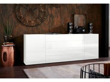 borchardt Möbel Borchardt Möbel Sideboard »MASSA«, Breite 200 cm, weiß, weiß Hochglanz/weiß Hochglanz
