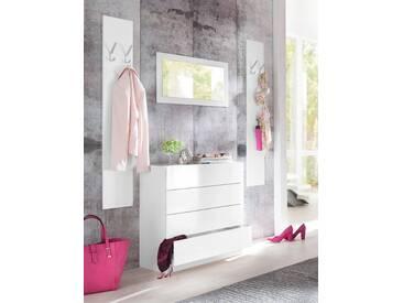 borchardt Möbel Garderoben-Set »Vaasa 3«, (Set, 3-tlg), mit Push to Open-Funktion, weiß, weiß matt/weiß matt