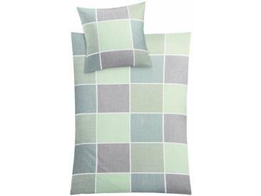 Kleine Wolke Bettwäsche »Caranta«, im klassischen Karo, grün, 1x 135x200 cm, Mako-Satin, grün