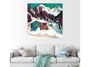 Posterlounge Wandbild - Ernst Ludwig Kirchner »Wildboden im Schnee«, natur, Alu-Dibond, 30 x 30 cm, naturfarben
