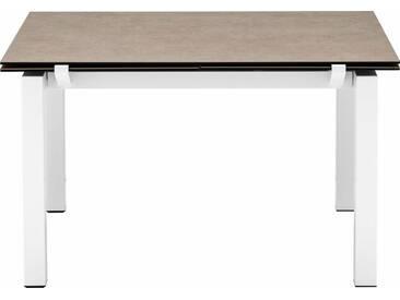 connubia by calligaris Tisch mit Tischplatte aus Keramik »Airport CB/4011«, braun, Metall schneeweiß matt, Keramik haselnussbraun
