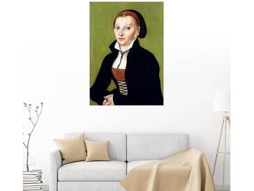 Posterlounge Wandbild - Lucas Cranach d.Ä. »Katharina von Bora«, grün, Alu-Dibond, 30 x 40 cm, grün