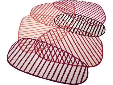 Esprit Teppich »Graphic Jungle«, mehreckig, Höhe 10 mm, rot, 10 mm, rot