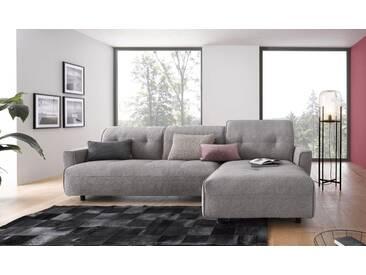 Hülsta Sofa hülsta sofa Polsterecke »hs.400« mit Rückenverstellung, grau, Recamiere rechts, lichtgrau