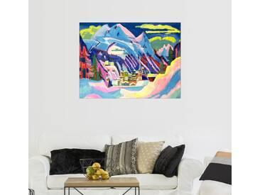 Posterlounge Wandbild - Ernst Ludwig Kirchner »Davos im Winter«, bunt, Alu-Dibond, 130 x 100 cm, bunt