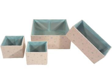 Franz Müller Flechtwaren Aufbewahrungsbox »Kids« (Set, 4 Stück), blau, 13,527,530x13,513,530x101012 cm, beige-blau