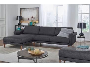 Hülsta Sofa hülsta sofa Polsterecke »hs.450« im modernen Landhausstil, Breite 262 cm, Recamiere links, anthrazitgrau/schwarzgrau