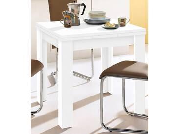 Mäusbacher Tisch, weiß, ohne Aufbauservice, Breite 80-136 cm, weiß matt