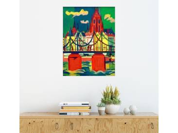 Posterlounge Wandbild - Ernst Ludwig Kirchner »Der Frankfurter Dom«, bunt, Acrylglas, 90 x 120 cm, bunt