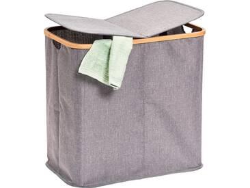 Zeller Present Zeller Wäschesammler, 2-fach, grau, Maße(B/T/H):(53,4/33/50), grau