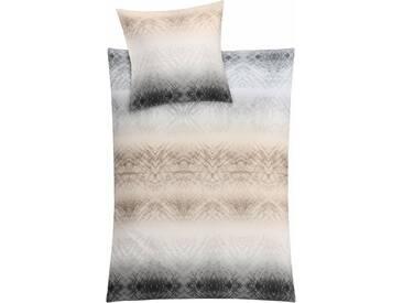 Kleine Wolke Bettwäsche »Vapore«, mit Muster, braun, 1x 155x220 cm, Mako-Satin, taupe