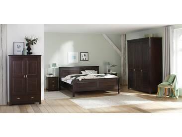 Home affaire Kleiderschrank »Rauna« aus massiver Kiefer, braun, 3-türig, 167 cm breit, kolonial