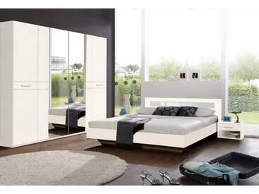 Wimex Schlafzimmer-Set »Petra/Pamela«, 4-teilig, weiß, weiß/Weißglas