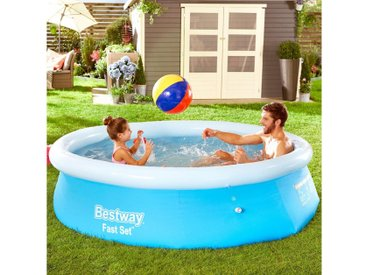 Bestway BESTWAY Quick-Up Pool »Fast Set™«, ØxH: 244x66 cm, blau, 66 cm x 244 cm, blau