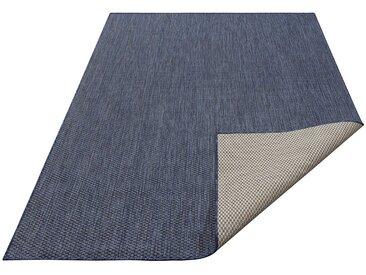 my home Teppich »Rhodos«, rechteckig, Höhe 3 mm, In- und Outdoor geeignet, Sisaloptik, blau, 3 mm, navy