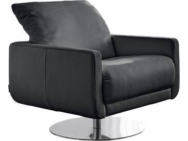 W.SCHILLIG Armlehnen-Sessel »mademoiselle« mit Kopfstützenverstellung und Drehteller, schwarz, schwarz