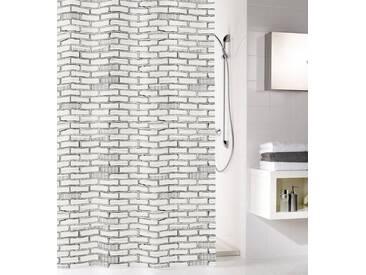 MEUSCH KLEINE WOLKE Duschvorhang »Bricks«, grau, weiß/grau