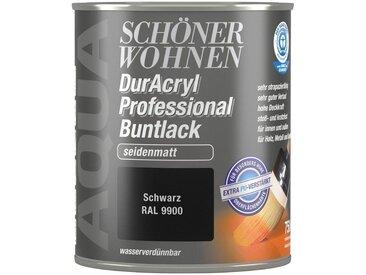 SCHÖNER WOHNEN-Kollektion Schöner Wohnen Farbe Buntlack »DurAcryl Professional seidenmatt, 750 ml schwarz«, schwarz, schwarz