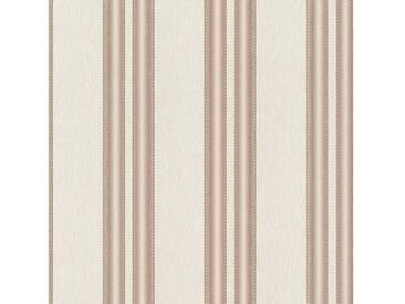 SCHÖNER WOHNEN-KOLLEKTION Vliestapete, P+S, »Streifen Tapete«, bunt, braun-beige-metallics