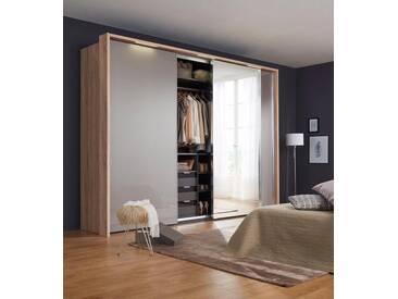 nolte® Möbel Schwebetürenschrank (3-türig) »Marcato 1C« mit Fronten aus Glas und Spiegel, Korpus sonoma Eiche, Front Glas samtbraun/Spiegel